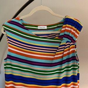 Calvin Klein adorable striped dress